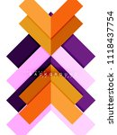 multicolored abstract geometric ... | Shutterstock .eps vector #1118437754