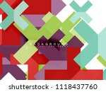 multicolored abstract geometric ... | Shutterstock .eps vector #1118437760