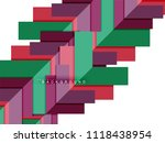 multicolored abstract geometric ... | Shutterstock .eps vector #1118438954