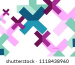 multicolored abstract geometric ... | Shutterstock .eps vector #1118438960