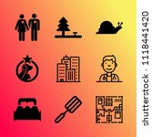 vector icon set about home with ... | Shutterstock .eps vector #1118441420