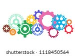 gear or cog icon on a white... | Shutterstock .eps vector #1118450564