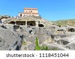 uplistsikhe   may 5  tourists... | Shutterstock . vector #1118451044