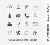 modern  simple vector icon set... | Shutterstock .eps vector #1118451434