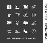 modern  simple vector icon set... | Shutterstock .eps vector #1118451458