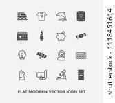 modern  simple vector icon set... | Shutterstock .eps vector #1118451614