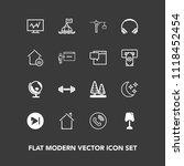 modern  simple vector icon set... | Shutterstock .eps vector #1118452454