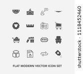 modern  simple vector icon set... | Shutterstock .eps vector #1118452460