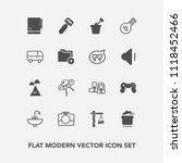 modern  simple vector icon set... | Shutterstock .eps vector #1118452466