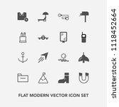modern  simple vector icon set... | Shutterstock .eps vector #1118452664