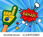 male hand in the country flag... | Shutterstock . vector #1118452883