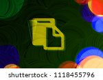 neon yellow clipboard icon on...