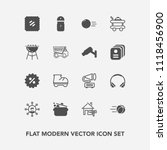 modern  simple vector icon set... | Shutterstock .eps vector #1118456900