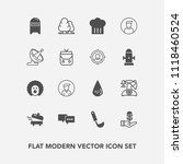 modern  simple vector icon set... | Shutterstock .eps vector #1118460524