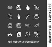 modern  simple vector icon set... | Shutterstock .eps vector #1118461394