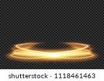 light effect line gold vector... | Shutterstock .eps vector #1118461463