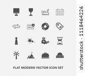 modern  simple vector icon set... | Shutterstock .eps vector #1118464226