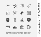modern  simple vector icon set... | Shutterstock .eps vector #1118465270