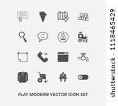 modern  simple vector icon set...   Shutterstock .eps vector #1118465429