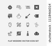 modern  simple vector icon set... | Shutterstock .eps vector #1118466014