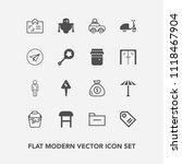 modern  simple vector icon set... | Shutterstock .eps vector #1118467904
