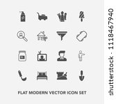 modern  simple vector icon set... | Shutterstock .eps vector #1118467940