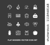 modern  simple vector icon set... | Shutterstock .eps vector #1118468168