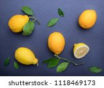 background with lemons on the... | Shutterstock . vector #1118469173
