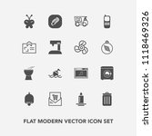 modern  simple vector icon set... | Shutterstock .eps vector #1118469326