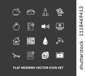 modern  simple vector icon set...   Shutterstock .eps vector #1118469413