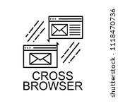 cross browser icon. element of...