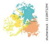 vector color brush spots ... | Shutterstock .eps vector #1118471294