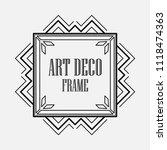 art deco black ornamental... | Shutterstock .eps vector #1118474363