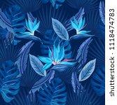 vector seamless tropical...   Shutterstock .eps vector #1118474783