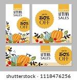 set of autumn templates.... | Shutterstock .eps vector #1118476256