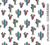 seamless pattern with cute... | Shutterstock .eps vector #1118483060