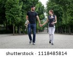 family day in the park. happy...   Shutterstock . vector #1118485814