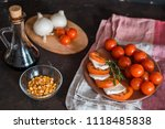 italian bruschetta with chopped ... | Shutterstock . vector #1118485838