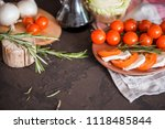 italian bruschetta with chopped ... | Shutterstock . vector #1118485844