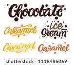 chocolate and caramel hand... | Shutterstock .eps vector #1118486069
