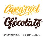 chocolate and caramel hand... | Shutterstock .eps vector #1118486078