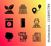 vector icon set about home with ... | Shutterstock .eps vector #1118491784