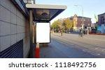 empty billboard on a dublin bus ... | Shutterstock . vector #1118492756