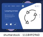 quality one page looping arrows ... | Shutterstock .eps vector #1118492960