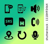 vector icon set about mobile... | Shutterstock .eps vector #1118493464