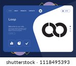 quality one page loop website...   Shutterstock .eps vector #1118495393