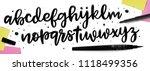 handwritten brush style modern... | Shutterstock .eps vector #1118499356