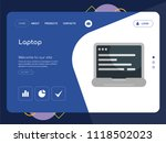 quality one page laptop website ... | Shutterstock .eps vector #1118502023
