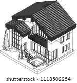 isometric house vector templates | Shutterstock .eps vector #1118502254