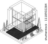 isometric house vector templates | Shutterstock .eps vector #1118502284